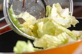 キャベツのアンチョビ炒めの作り方1