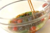 ミツバともずくのショウガ酢和えの作り方2