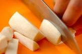 キノコの明太カルボナーラ風の作り方1
