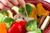 温サラダ ガーリック風味のゴマドレッシングの作り方9