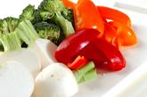 温サラダ ガーリック風味のゴマドレッシングの作り方7