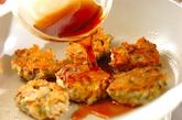 照り焼き鶏バーグの作り方4