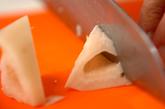 乱切りレンコンのザーサイ炒めの下準備1