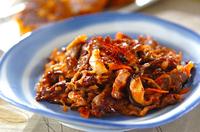 牛肉とキムチの炒め物