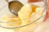 桃のヨーグルトドリンクの作り方2