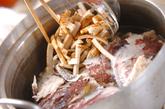鯛のあら炊きの作り方1