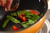 キヌサヤのソース炒めの作り方2