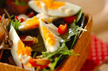 ゆで卵のアンチョビマヨサラダ