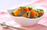 カボチャと豆の煮物