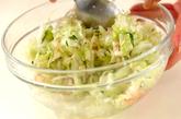 キャベツとキュウリの塩もみサラダの作り方2