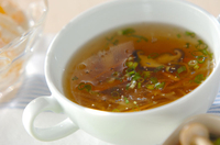 せん切り大根のスープ
