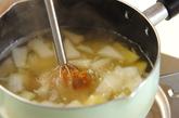 玉ネギとジャガイモのみそ汁の作り方1