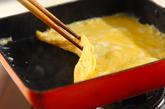 だし巻き卵の作り方1