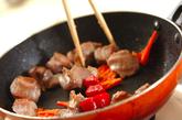 砂肝とピーマンの山椒炒めの作り方2
