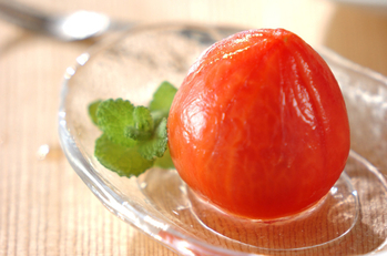 冷やしトマトのデザート