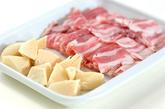 タケノコと豚肉のオイスター炒めの下準備1