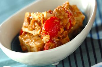 豆腐のピーナッツソース和え