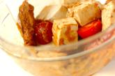 豆腐のピーナッツソース和えの作り方1