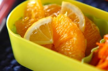 オレンジのハチミツマリネ