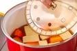 高野豆腐と鶏肉の煮物の作り方1