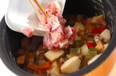 お煮しめの炊き込みご飯の作り方3
