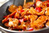 鶏と野菜の黒酢煮の作り方2