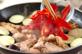 鶏と野菜の黒酢煮の作り方1