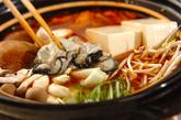 カキのキムチ鍋の作り方2