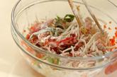 モヤシと豚肉のかき揚げの作り方2