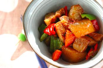 大根と豚肉の中華煮