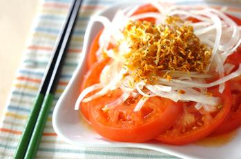 トマトのジャコサラダ
