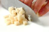 マグロとレンコンのつくねの作り方1