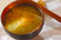 白菜と長芋の麦みそ汁