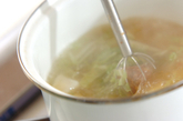 白菜と長芋の麦みそ汁の作り方1