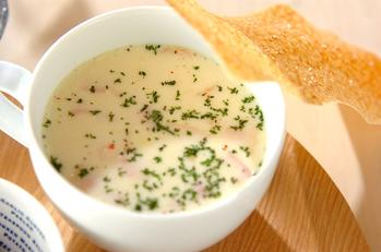 パリパリ豆乳スープ