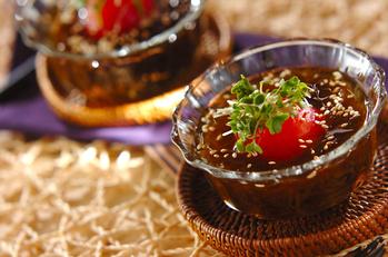 トマトともずくの和風サラダ