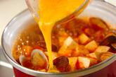 豆腐のキムチスープご飯の作り方3