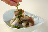 シメサバと野菜のとろろ昆布和えの作り方2
