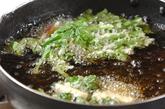菊菜としらすのかき揚げ の作り方3