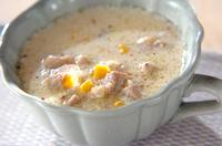 鶏とコーンのミルクスープ