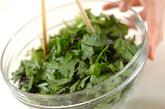 菊菜の塩昆布和えの作り方1