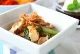 野沢菜と豆腐の炒め物
