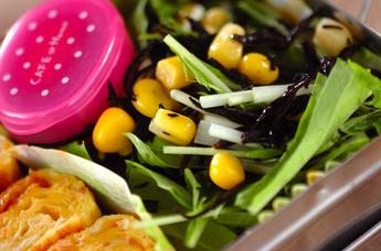 ヒジキと水菜のサラダ