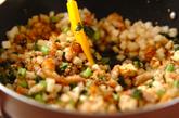 大根と豚肉の常備菜風炒め物 【大根中部+大根葉】の作り方4