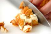 大根と豚肉の常備菜風炒め物 【大根中部+大根葉】の作り方2