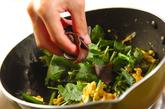 ニラとミツバの卵とじの作り方3