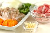 豚肉と昆布の炒め物の下準備1
