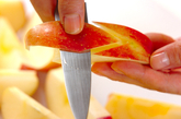 リンゴのデザートの下準備1