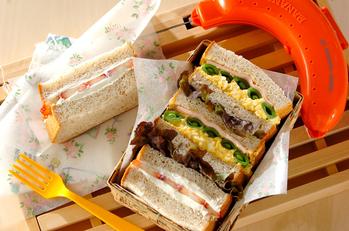 春の卵サンド&イチゴサンド