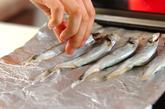 シシャモのピリ辛甘酢漬けの作り方1